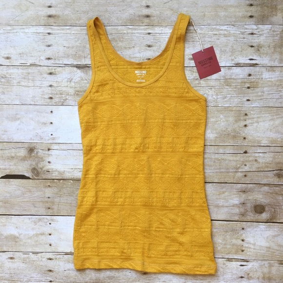af84d3e9b4696 MOSSIMO Mustard Yellow Stretchy Tank